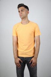Blackcoach Turuncu Erkek Bisiklet Yaka Slim-Fit T-Shirt