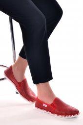 Ayakland Mrt Günlük Babet Bayan Ayakkabı Kırmızı