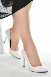 Ayakland 1943-72 Cilt 11 Cm Topuk Bayan Stiletto Ayakkabı BEYAZ