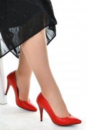 Ayakland 1943 72 Cilt 11 Cm Topuk Bayan Stiletto Ayakkabı Kırmızı