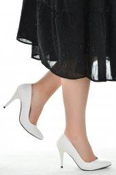 Ayakland 1943-72 Cilt 11 Cm Topuk Bayan Stiletto Ayakkabı BEYAZ-2