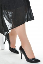Ayakland 1943 72 Rugan 11 Cm Topuk Bayan Stiletto Ayakkabı Siyah