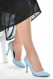 Ayakland 1943-72 Cilt 11 Cm Topuk Bayan Stiletto Ayakkabı Mavi