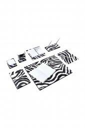 Brons Sümen Takımı Zebra 9 Parça