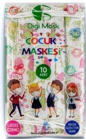 Digi Mask Cerrahi Çocuk Maskesi (Yeşil)