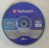 Verbatim Bd R Dl 10lu Blu Ray 50gb 6x