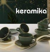 Keramika Çay Takımı 12 Parça 6 Kişilik (Keraart)