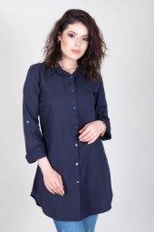 Kadınt Tunik Lacıvert Gömlek