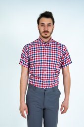 Erkek Gömlek Kırmızı Klasık