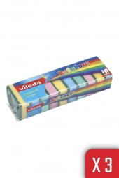 10lu Rainbow Ekonomik Bulaşık Süngeri 3lü Paket