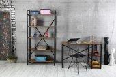 Hayal Metal Kitaplık, Tel Sandalye, Çalışma Masası Takımı-2