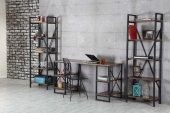 ışıl Metal Kitaplık, Tel Sandalye Ve Çalışma Masası Takımı