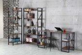 çiğdem Metal Kitaplık, Tel Sandalye, Çalışma Masası Takımı