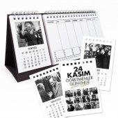 24 Kasım Öğretmenler Günü Atatürk Takvimi Haftalık Planlayıcılı