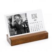 Ahşap Tabanlı Atatürk Masa Takvimi