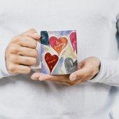 Sevgililer Gününe Özel Kupa Bardak Kalpler