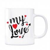 Sevgililer Gününe Özel Kupa Bardak My Love