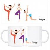 ı Love Yoga Kupa Bardak Model 8