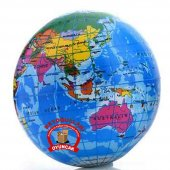 10 Cm Büyük Boy Dünya Stres Topu