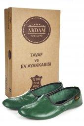 100 Deri Hac Umre Tavaf Ve Ev Ayakkabısı Yeşil