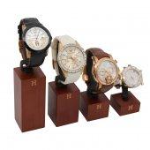 Saat Standı 4lü Set Hermes Luxury Ahşap Takoz