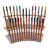 Kalem Standı Oval Pleksi 2 Kademe