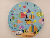 Deniz Ve Balıklar Çocuk Duvar Saati Ücretsiz...