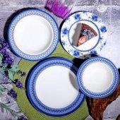 Kosova Ksv Por267 Blue Holly Stonware Yemek...