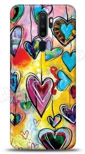 Oppo A9 2020 Hearts Kılıf