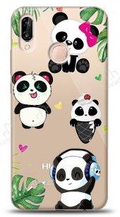 Huawei P20 Lite Happy Panda Kılıf