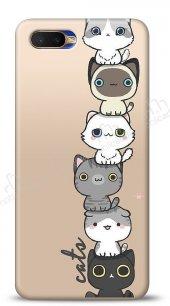 Oppo RX17 Neo Lovely Cats Kılıf