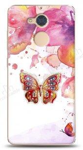 Casper Via A1 Colorful Butterfly Taşlı Kılıf