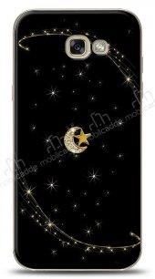 Samsung Galaxy A7 2017 Ay Yıldız Gökyüzü Taşlı Kılıf