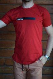 Basic Bisiklet Yaka Kırmızı Erkek Tişört