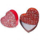 Gıpta Amore Print Flok Kırmızı Hediye Kutusu...