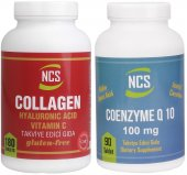 Ncs Collagen 1000 Mg 180 Tablet Ncs Coenzyme Q-10 100 Mg 90 Tab