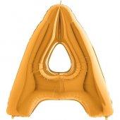 A Harf Grabo Altın Folyo Balon 102 Cm