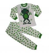 Kız Erkek Çocuk Kurbağalı Pijama Takımı