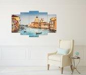 Venedik Manzara 5 Parçalı Mdf Tablo