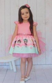 Kız Çocuk Tül Kanatlı Lol Baby Elbise