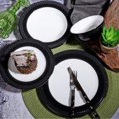 Kosova Stonware Yemek Takımı Siyah Buğday 24...