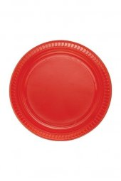 Roll Up Plastik Tabak Kırmızı 25 Li
