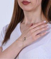 Kadın Kalp Sonsuzluk Altın Şahmeran 0282