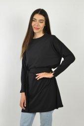 Kadın Siyah Kuşaklı Tunik