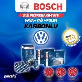 VW Jetta 1.6 TDI Bosch 3lü Filtre Bakım Seti 2011-2015 Karbonlu