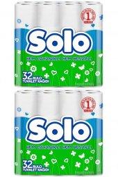 Solo Tuvalet Kağıdı Çift Katlı 64 Lü Paket...