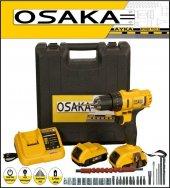 Osaka 32 Volt 5.0 Amper Çift Akülü 27 Parça Uç Setli Şarjlı Vidalama Matkap O32v50ass27