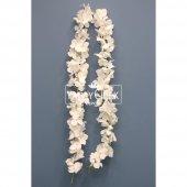çiçekli Sarmaşık Mine Dal 110cm Beyaz
