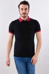 Erkek Polo Yaka Siyah Tshirt 2484
