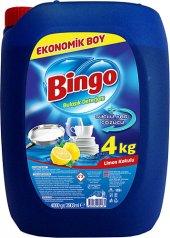 Bingo Limon Kokulu Sıvı Bulaşık Deterjanı 4 Kg
